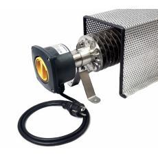 Rippenrohrheizung (2000 Watt) mit Kabel, Stecker und Schutzkorb