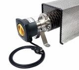 Rippenrohrheizung (1500 Watt) mit Kabel, Stecker und Schutzkorb